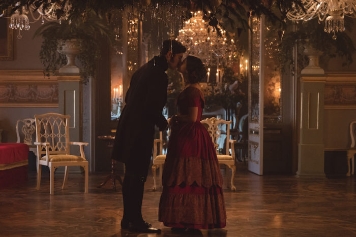 MAMMOTH SCREEN FOR ITV VICTORIA COMFORT AND JOY Pictured: JENNA COLEMAN as Victoria and TOM HUGHES as Albert. This photograph is (C) iTV and can only be reproduced for editorial purposes directly in connection with the programme or event mentioned above. Once made available by ITV plc Picture Desk, this photograph can be reproduced once only up until the transmission [TX] date and no reproduction fee will be charged. Any subsequent usage may incur a fee. This photograph must not be manipulated [excluding basic cropping] in a manner which alters the visual appearance of the person photographed deemed detrimental or inappropriate by ITV plc Picture Desk. This photograph must not be syndicated to any other company, publication or website, or permanently archived, without the express written permission of ITV Plc Picture Desk. Full Terms and conditions are available on the website www.itvpictures.com For further information please contact: Patrick.smith@itv.com 0207 1573044