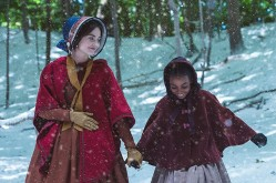 MAMMOTH SCREEN FOR ITV VICTORIA COMFORT AND JOY Pictured: JENNA COLEMAN as Victoria and ZARIS-ANGEL HATOR as Sarah. This photograph is (C) iTV and can only be reproduced for editorial purposes directly in connection with the programme or event mentioned above. Once made available by ITV plc Picture Desk, this photograph can be reproduced once only up until the transmission [TX] date and no reproduction fee will be charged. Any subsequent usage may incur a fee. This photograph must not be manipulated [excluding basic cropping] in a manner which alters the visual appearance of the person photographed deemed detrimental or inappropriate by ITV plc Picture Desk. This photograph must not be syndicated to any other company, publication or website, or permanently archived, without the express written permission of ITV Plc Picture Desk. Full Terms and conditions are available on the website www.itvpictures.com For further information please contact: Patrick.smith@itv.com 0207 1573044