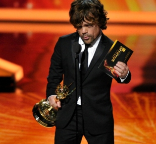 LOS ANGELES, CA - SEPTEMBER 18: Actor Peter Dinklage speaks onstage during the 63rd Primetime Emmy Awards at the Nokia Theatre L.A. Live on September 18, 2011 in Los Angeles, United States. (Photo by John Shearer/WireImage)
